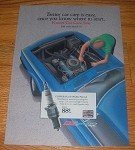 1990 Kmart Car Care Advertisement - Champion Spark Plugs, Monroe Shocks, Bosch
