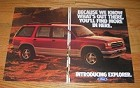 1991 6-page Ford Explorer Advertisement - What's Out There