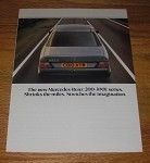 1986 3-Page Mercedes-Benz 200-300E Series Car Advertisement - Shrinks the Miles