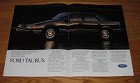 1986 4-page Ford Taurus LX Car Advertisement