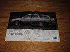 1986 4-page Ford Taurus Wagon Advertisement