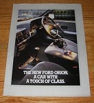 1986 4-page Ford Orion Car Advertisement - A Touch of Class