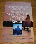 1986 12-page Walt Disney World Advertisement - Greatest Vacation