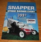 1986 4-page Snapper Lawn Mowers and Tillers Advertisement