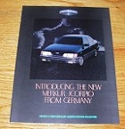 1987 8-page Merkur Scorpio Car Advertisement!