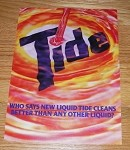 1985 3-page Liquid Tide Detergent Advertisement