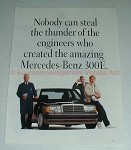 1989 3pg Mercedes-Benz 300E Car Ad - Steal the Thunder!